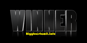 Bigg Boss Tamil Winner : Season 2